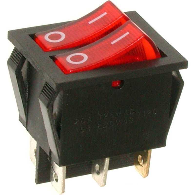 A12K ⟡ Переключатель красный с подсветкой