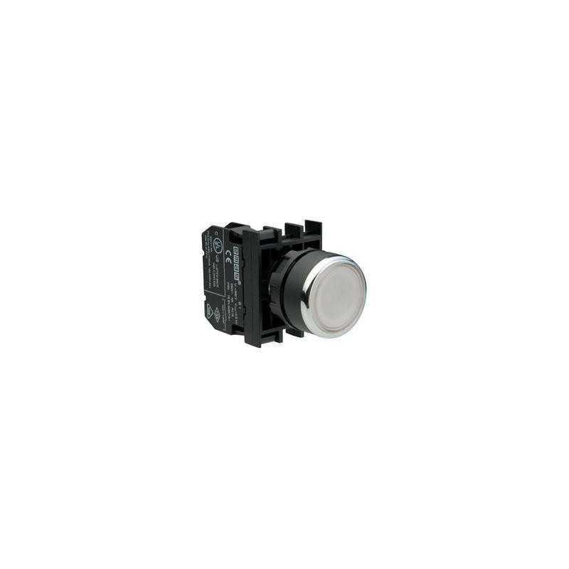 B252DB ⟡ Кнопка со светодиодной подсветкой белая