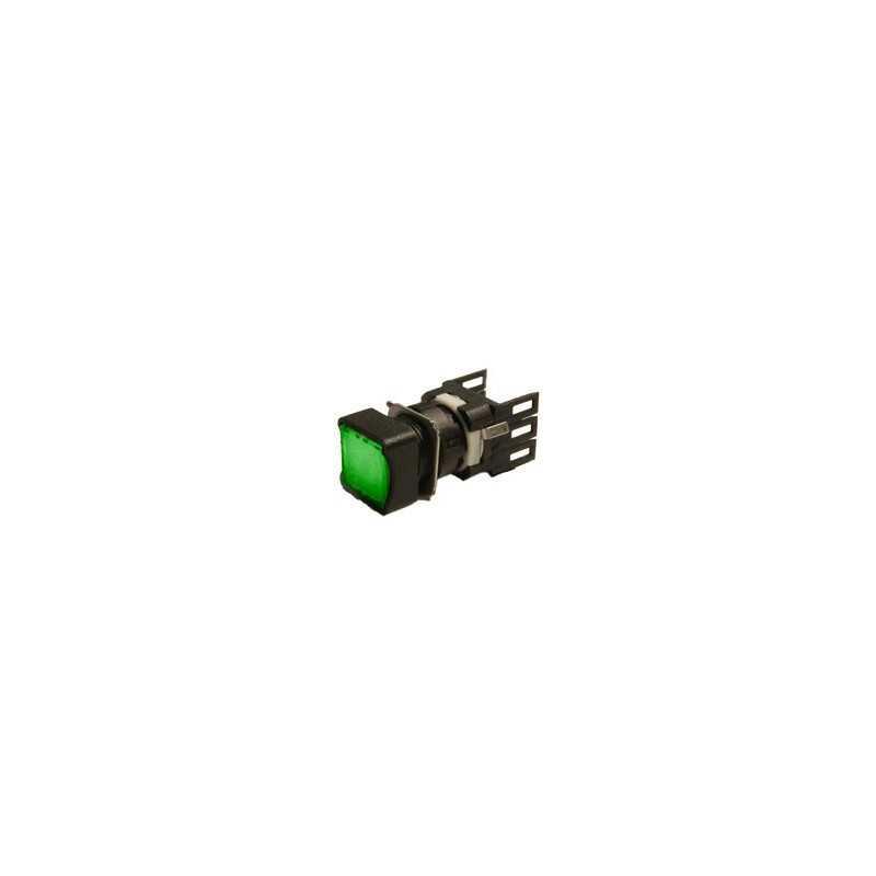 D101KDY ⟡ Кнопка квадратная без фиксации зеленая