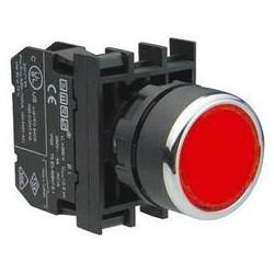 B101DК ⟡ Кнопка нажимная круглая красная