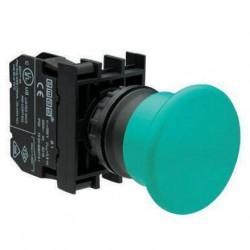B200MY ⟡ Кнопка нажимная «Грибок» Ø 40мм, зеленая