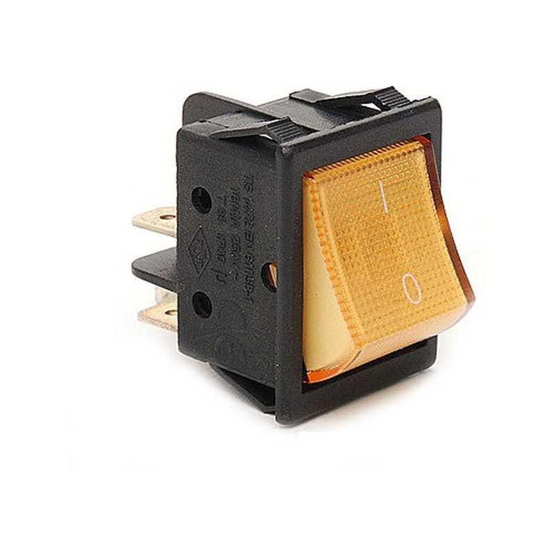 A14S ⟡ Переключатель желтый с подсветкой