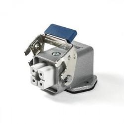 EBM04PE46 ⟡ Разъём розетка на 4 полюса, 10А, боковой ввод, металлическая скоба