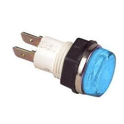 S140M ⟡ Сигнальная арматура Ø 14мм синяя с лампой 220В