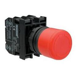 B102E30 ⟡ Кнопка нажимная аварийная с цилиндрической головкой Ø 30 мм, красная