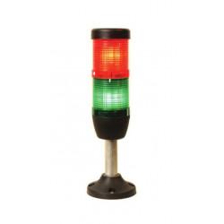 IK52F220XM03 ⟡ Сигнальная колонна Ø 50 мм. Красный, зелёный, 220 V AC, стробоскоп Flash
