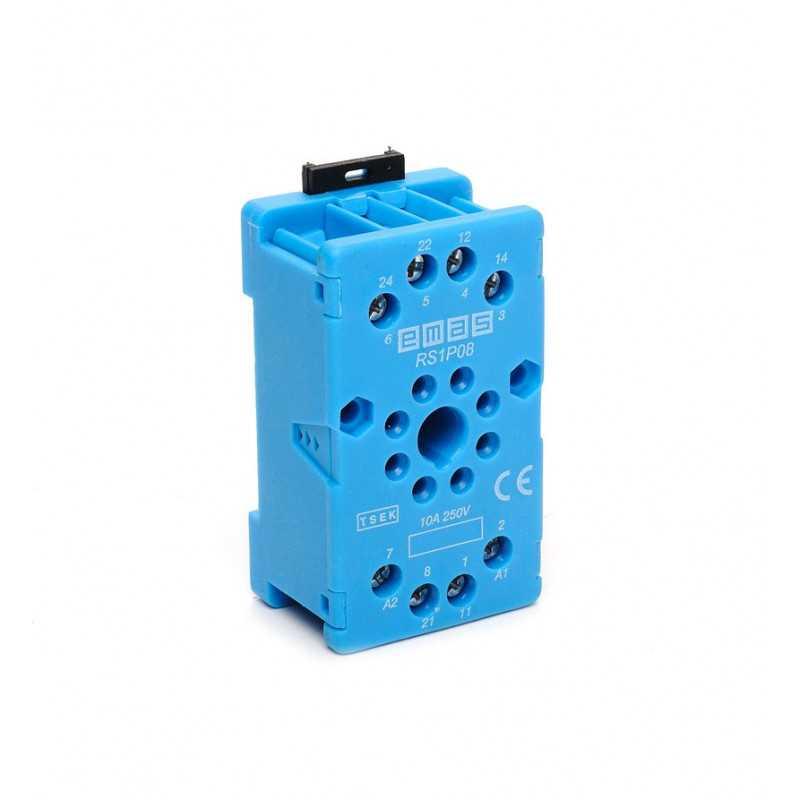 RS1P08M1 ⟡ Релейная колодка синяя