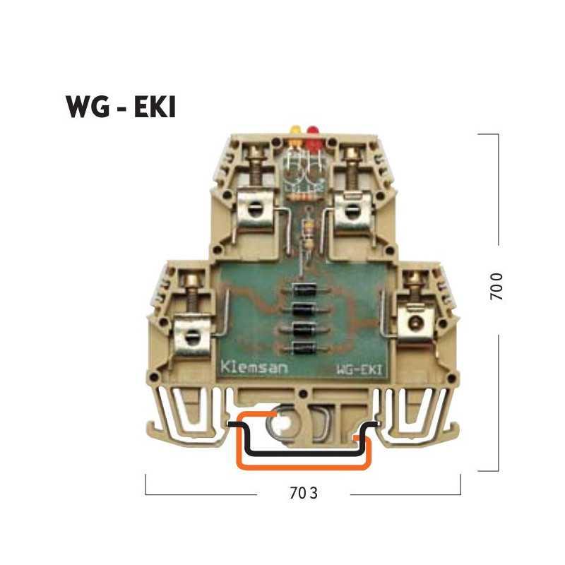 Клеммник WG-EKI 2-х ярусный со схемой...