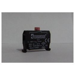C4BK ⟡ Блок-контакт CM CP (1НЗ) для использования с кнопками серии В в пультах управления