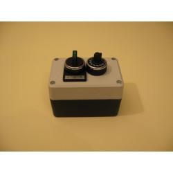 P2B191SL30BPR ⟡ Пост управления с потенциометром, переключателем на 3 позиции с фиксацией, со светодиодной подсветкой 24 AC/DC