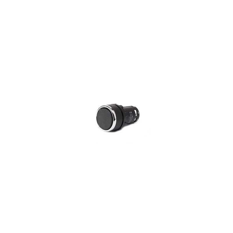 MB100DH ⟡ Кнопка нажимная моноблочная черная (1НО) Ø 22 мм