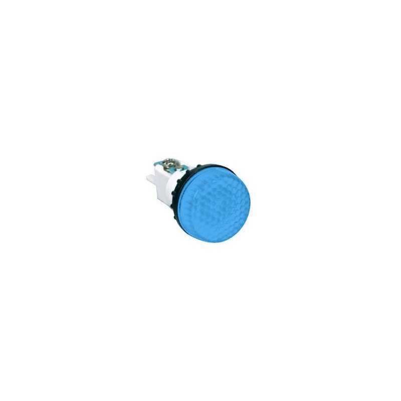 S224M7 ⟡ Арматура сигнальная синяя Ø 22мм (под лампу с резьбой Ba9S) 220B