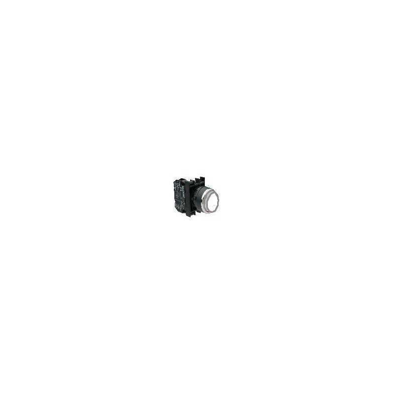 B102HB ⟡ Кнопка выступающая белая (1НО+1НЗ)