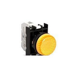 B080XS ⟡ Арматура сигнальная желтая со светодиодом 12-30 В переменного и постоянного тока