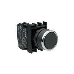B100FH ⟡ Кнопка с фиксацией черная (1НО)