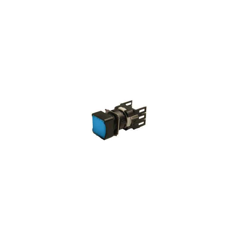 D100KDM ⟡ Кнопка нажимная квадратная синяя