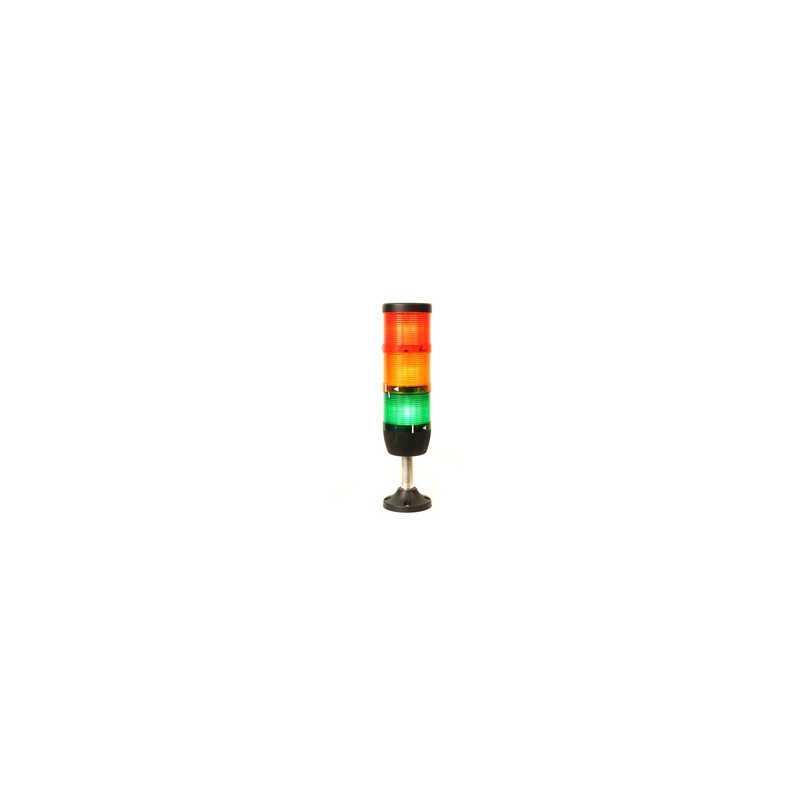 IK73F220XM01 ⟡ Сигнальная колонна Ø 70 мм. Красная, желтая, зеленая 220 вольт, стробоскоп FLESH