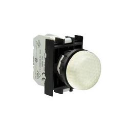 B050XB ⟡ Арматура сигнальная белая со светодиодом 12-30 В переменного и постоянного тока