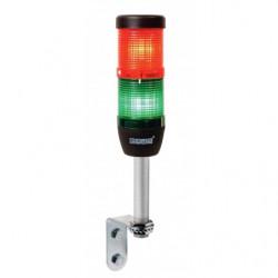 IK52L024XD01 ⟡ Сигнальная колонна Ø 50 мм. Красный, зелёный 24 V DC, светодиод LED, алюминиевое настенное соединение 100 мм.