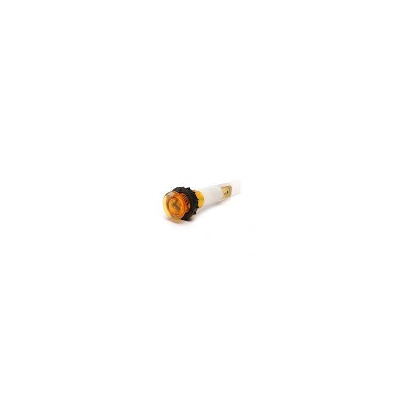 S102S ⟡ Сигнальная арматура 10мм желтая с зажим. MS и с неон. лампой