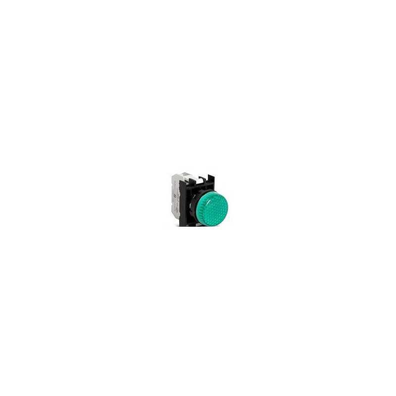 CP090XY ⟡ Арматура сигнальная зеленая со светодиодом 12-30 В переменного и постоянного тока