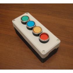 PY4B12YB12MB12SB12FK ⟡ Пост управления четырехкнопочный (зеленый-синий-желтый-красный)