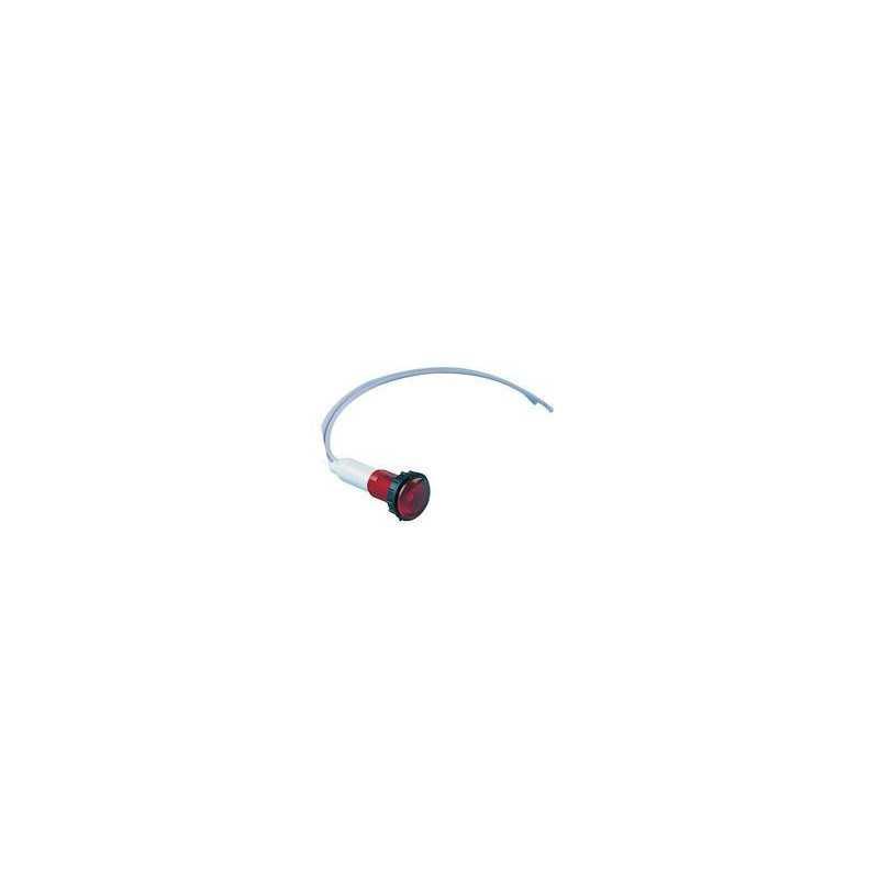 S100LK2 ⟡ Сигнальная арматура 10мм с красным светодиодом 24V AC/DC