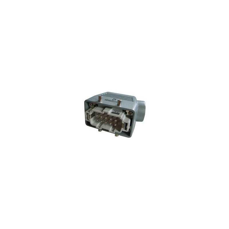 EBM10FU10 ⟡ Вилка, 4-фиксатора, боковой ввод, 10 полюсов, 16А