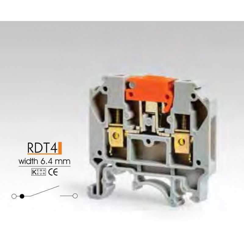 Клеммные зажимы с размыкателем RDT4