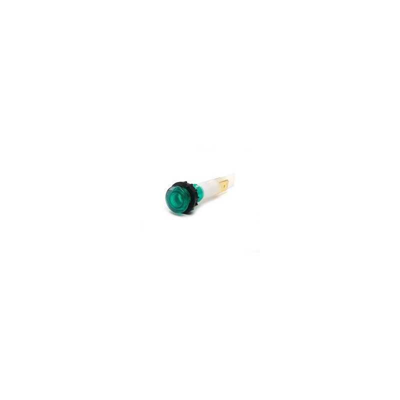 S102Y ⟡ Сигнальная арматура 10мм зеленая с зажим. MS и с неон. лампой