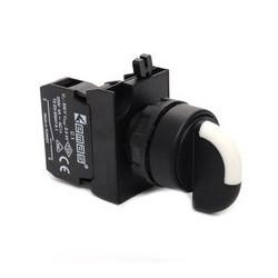 CP170S20 ⟡ Переключатель 0-1 с фиксацией (1НО) с LED синий (12-30В AC-DC)