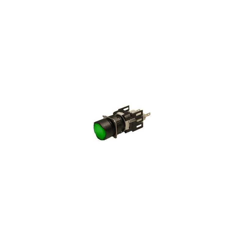 D100YDY ⟡ Кнопка нажимная круглая зеленая
