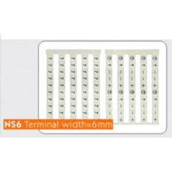 Маркировочные лейблы NS6 (Sheet/50 Pcs)