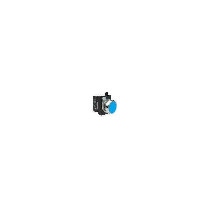 CM200DM ⟡ Кнопка нажимная круглая синяя (1НЗ)