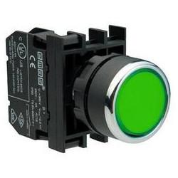 B102DY ⟡ Кнопка нажимная круглая зеленая