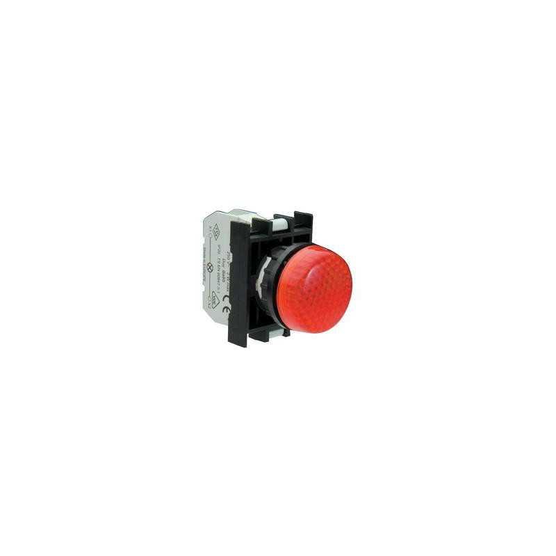 B030XK ⟡ Арматура сигнальная красная для неоновой лампы (без лампы)