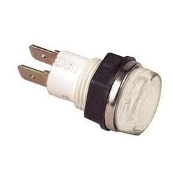 S140B ⟡ Сигнальная арматура Ø 14мм белая с лампой 220В