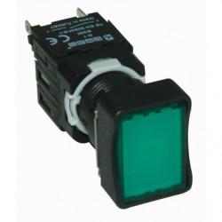 D101DDY ⟡ Кнопка прямоугольная без фиксации зеленая