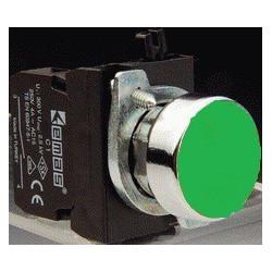 CM100DY ⟡ Кнопка нажимная круглая зеленая (1НО)