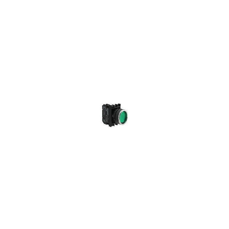 B101FY ⟡ Кнопка с фиксацией зеленая (2НО)