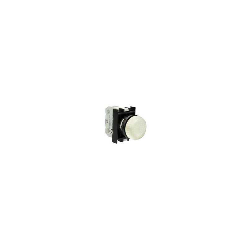 CP050XCP ⟡ Арматура сигнальная белая со светодиодом 12-30 В переменного и постоянного тока