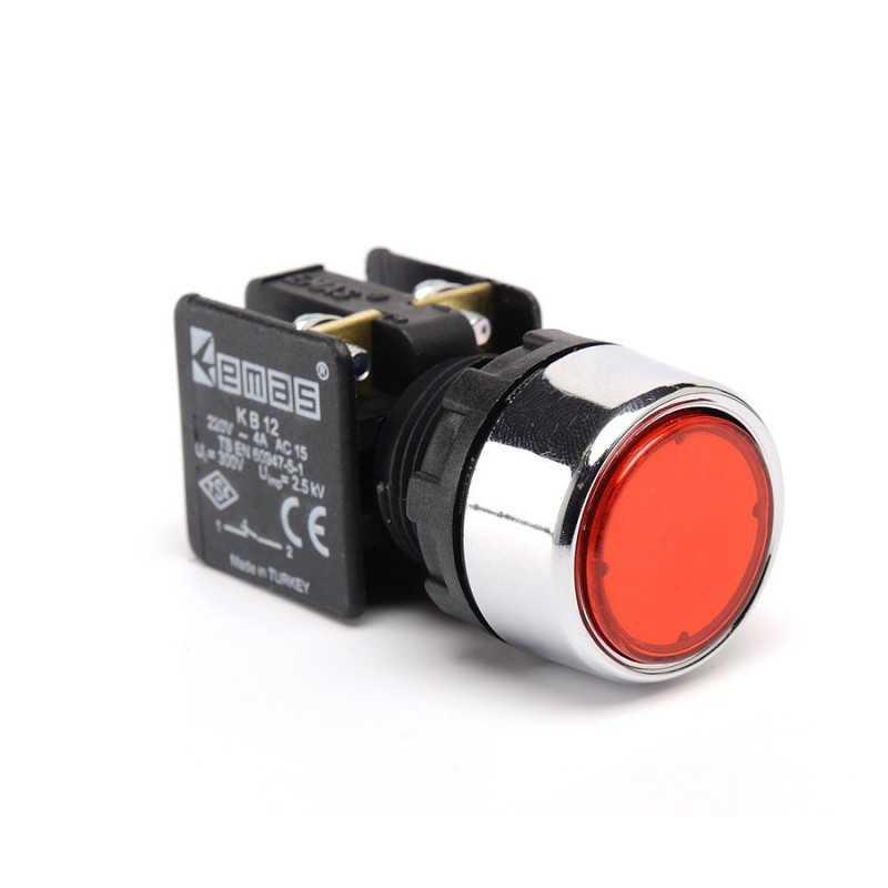 KB12DK ⟡ Кнопка нажимная Ø22 мм красная