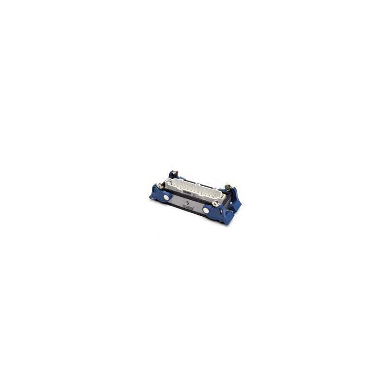 EBM24FM44 ⟡ Вилка низкая, 4-фиксатора, для панели, 24 полюса, 16А