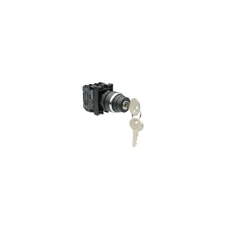 B102AA30 ⟡ Кнопка с ключом 2-0-1, ключ вынимается в положении 0 (1НО+1НЗ)