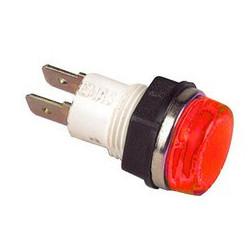 S140K ⟡ Сигнальная арматура Ø 14мм красная с лампой 220В