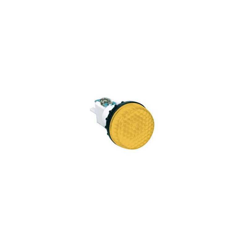S224S7 ⟡ Арматура сигнальная желтая Ø 22мм (под лампу с резьбой Ba9S) 220B