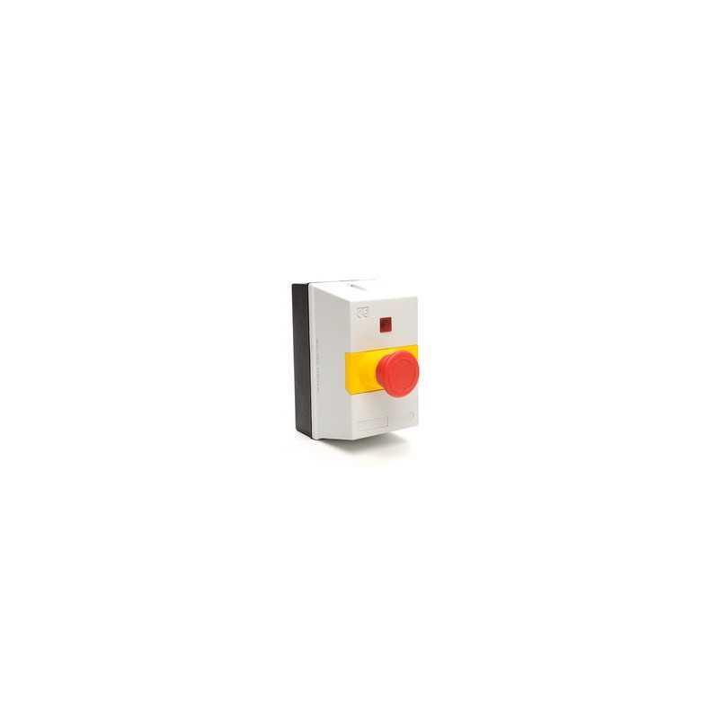 MKS1-KE ⟡ Корпус автомата защиты c аварийной кнопкой «Грибок» Ø 40мм