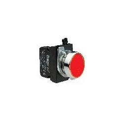CM101DК ⟡ Кнопка нажимная круглая красная (2НО)