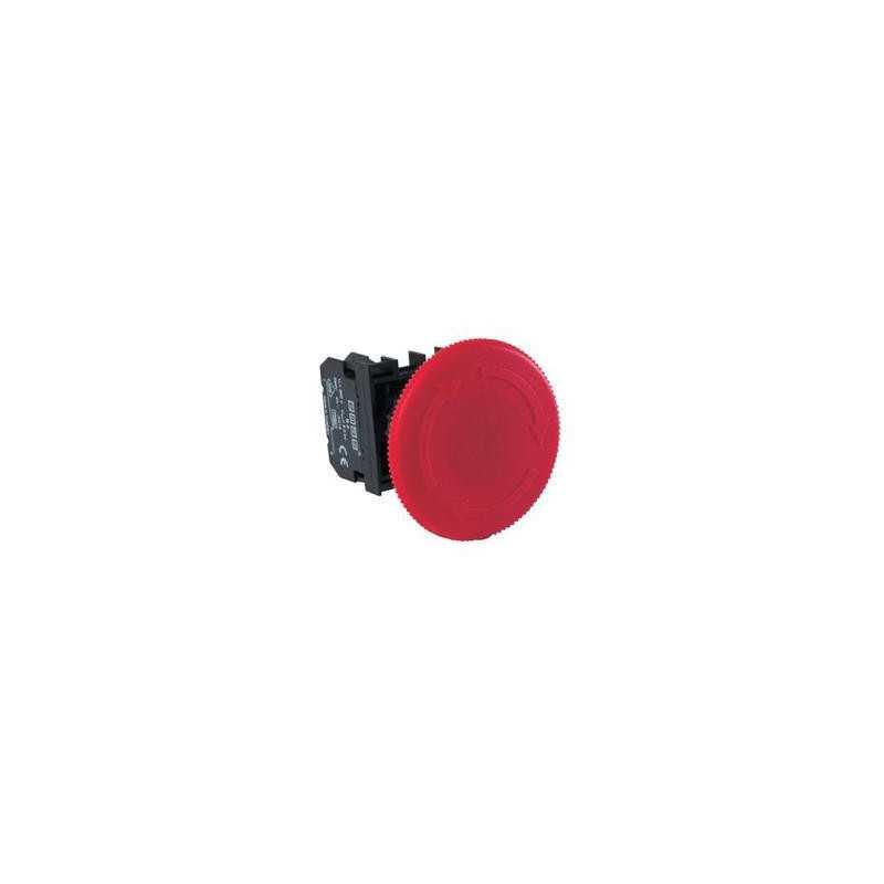 B102E60 ⟡ Кнопка нажимная «Грибок» аварийная, Ø 60 мм, красная