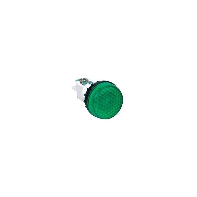 S224Y ⟡ Арматура сигнальная зеленая Ø 22мм (под винт и пайку)